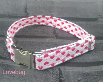 Valentine Dog Collar - Heart Dog Collar - Red Dog Collar - Girl Dog Collar - Wedding Dog - Valentine Gift - Valentine Dog - Summer Dog