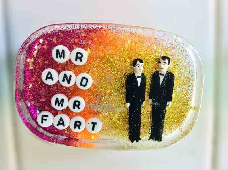 Wedding Gag Gift: Wedding Gag Gift Gay Wedding Gift: Mr And Mr Fart Art For