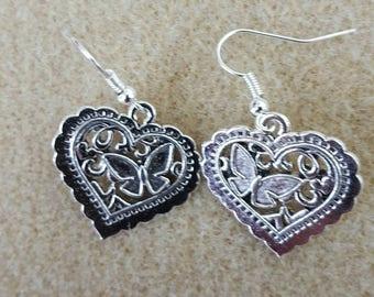 Beautiful heart earrings