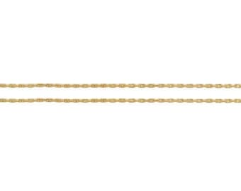 14Kt Gold Filled 0.62mm Beading Chain Strong and Heavy  - 5ft Made in USA LOWEST PRICE wholesale quantity (5307-5)/1