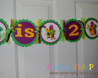 Barney name and age banner