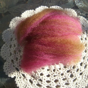 Alpaca BLF Fiber Roving for spinning / Chocolate Covered Cherry