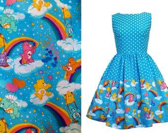 FOR NATALIE ONLY - Unicorn dress, Care Bear dress, plus postage for 2 dresses