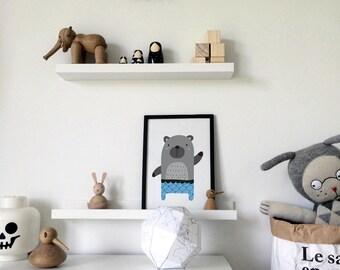 Bear Print, Nursery Print, Nursery Wall Art, Kids Room Poster, Nursery Poster, Kids Wall Art, Home Decor, Wall Art, Art Print