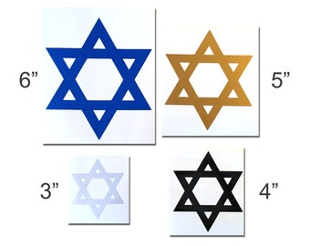 Reflective Star of David Decal (2 Pack)