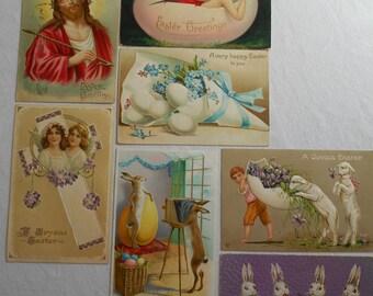 Vintage Easter Postcards lot of 7