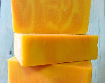 APHRODITE Cold Process Facial Soap with fresh Carrot and Goat Milk ~ SALE & Reduced s/h