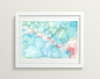 Bright wall art, Digital download art, Print wall art decor, Decor living room, Abstract watercolor, Abstract wall art, Printable art