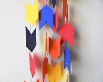 Arrow Garland in Blue Red Orange Yellow 8 ft