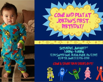 Yo Gabba Gabba Birthday Party Invitation - Digital File