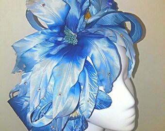 Baby blue silk petal band