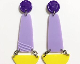 Violet/Lavendar/Sunshine Earrings