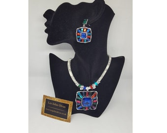 Union jack statement necklace