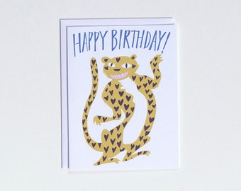 Happy Birthday - Crazy Cat - Note card