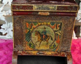 SALE! General Store Bin - Russian. Military, Horse, Use/Decor - Antique -  Fabulous!