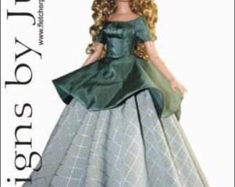 "PDF Memories Dress Pattern for 16"" Ellowyne Wilde Dolls Tonner"