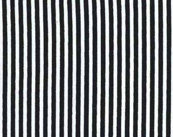 Michael Miller fabrics, Little Stripe, Black and white stripes, yard