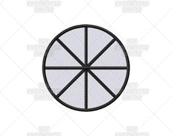 Wheel of the Year Spiritual Religious Seasons Sacred Symbol Machine Embroidery Pattern Design