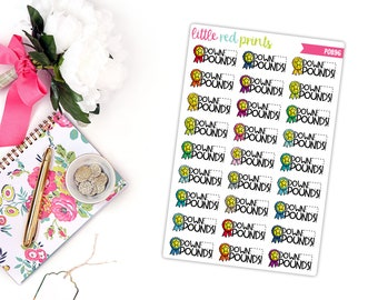 Weight Loss Planner Stickers for the Erin Condren Life Planner, Script Sticker, Fitness Planner Sticker - [P0896]