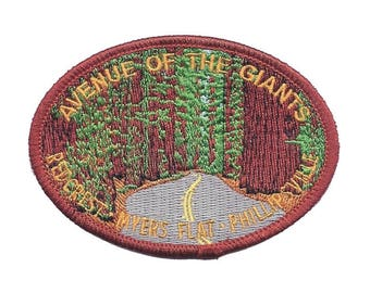 Avenue of the Giants Patch - Humboldt, California Redwoods (Iron on)