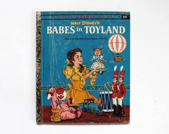Babes in Toyland Book Walt Disney Little Golden Book 1961 Hardcover