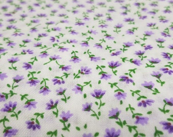 White with Purple flowers