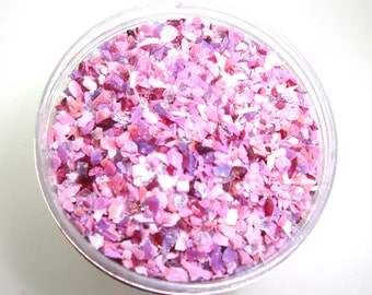 Heirloom Roses Frit Blend for Lampwork Bead Making 96 CoE Carnation Pink Gold Ruby Raspberry Rose Cranberry Fuchsia - Available in 2 sizes.