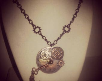 Large Steampunk Pendant Necklace