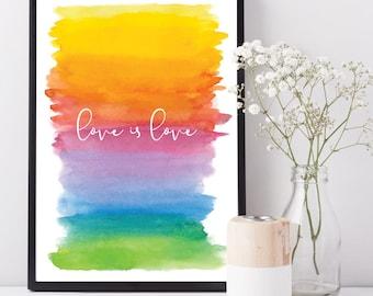 Printable Love is Love Print, DIGITAL FILE