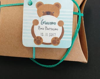 "Baby Shower Tags -  ""TEDDY BEAR"""