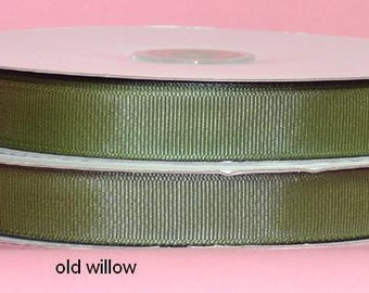 7/8 inch x 50 yds grosgrain ribbon OLD WILLOW
