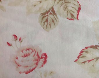 3 Sisters, Favorites for Moda, Cream Fabric, China White, Pink Roses, Shabby Chic, Fabric by the Yard