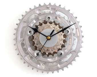 Wall Clock Bike Clock Bicycle Clock Cyclist Gift Wall Art Decor Bike Gear Clock Sprocket Clock Bike Parts Modern Silent Clock Cycling Decor