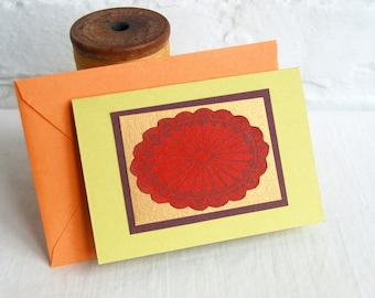 Southwest Greeting Card Concho Jewelry Handmade Blank Note Card Vintage Stationery Gift Card