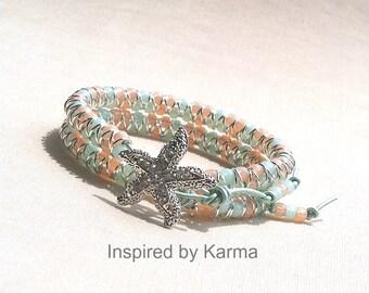 Goddess Wrap Bracelet, Bohemian Wrap Bracelet, Beach wrap,  Beach bracelet, Goddess bracelet, Starfish Bracelet, beach boho,