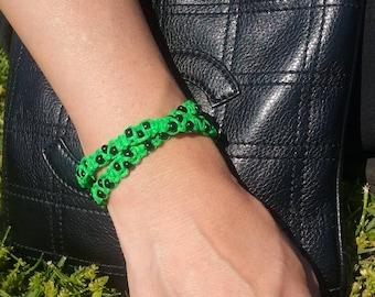 Green and black bracelet
