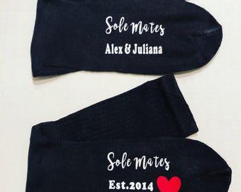 Valentine anniversary sole mate socks gift personalized socks gift