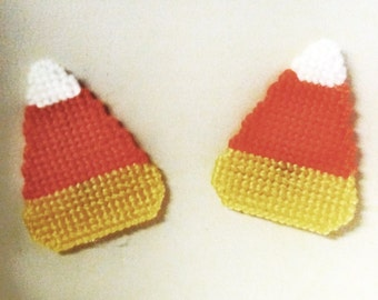 Candy Corn Magnets Plastic Canvas