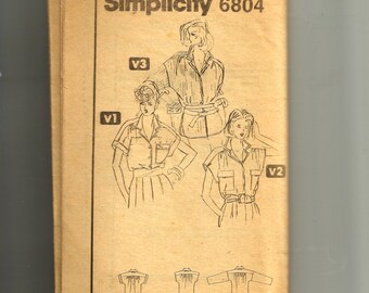 Simplicity Tops Pattern 6804