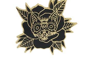 Bat Rose Gold Lapel Pin