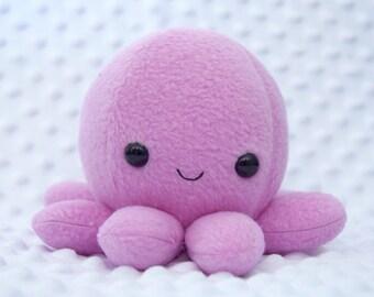 Magenta Octopus Plushie