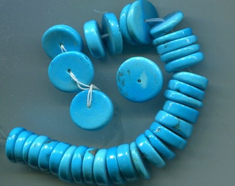Sleeping Beauty Turquoise Disc Heishe Beads, AAA Quality  5269-A