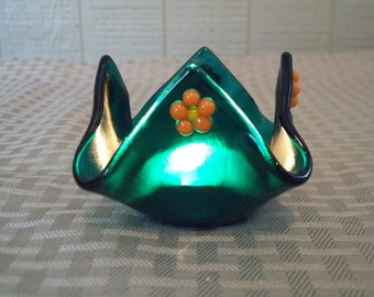 Fused Glass Candleholder