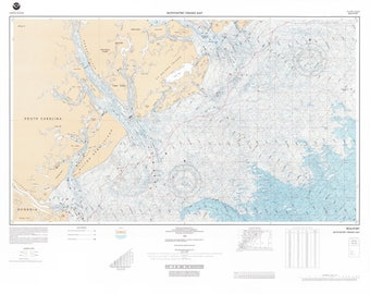 Beaufort Map - South Carolina Bathmetric Chart 1990