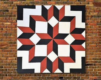 Indoor Outdoor Decor, Wood Barn Quilt, Quilt Wall Art, Quilt Wall Hanging, Wood Wall Art, Barn Quilt Pattern, Wood Quilt, Housewrming