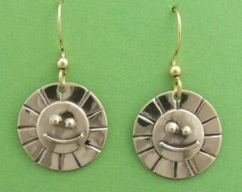 Bronze Sunshine Smile earrings