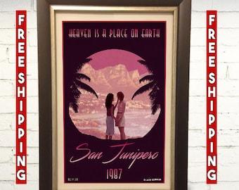 Black Mirror San Junipero Original Artwork Art Print LGBT 11x17 inches