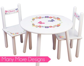 Childs Table & Chair Set personalized with Owl Design for