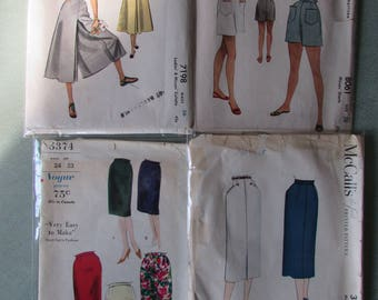 1940s and 50s Skirts Shorts and Gaucho Pants Patterns