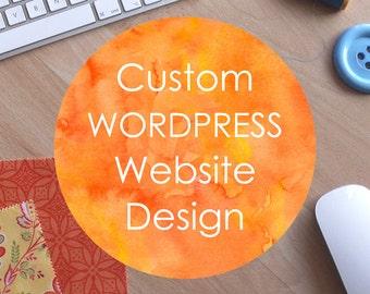 50% DEPOSIT - Website Design and Development - custom and professional Wordpress website design and development. Made to order bespoke site